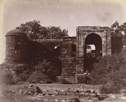 View from outside the walled enclosure of Sultan Ghari's Tomb, Delhi